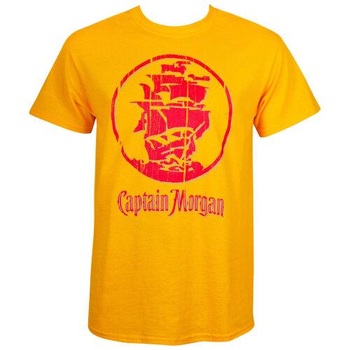 Captain Morgan Gold Ship Logo Tee Shirt