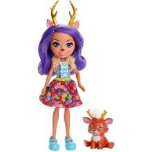 Enchantimals FXM75 Danessa Deer Doll (6 Inch), and Sprint Animal Friend Figure, Multi-colour