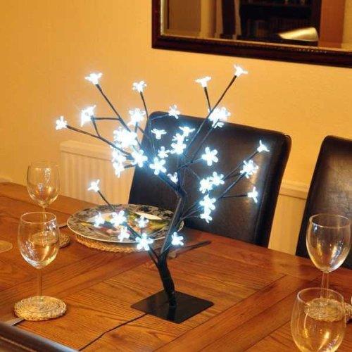 45 cm White Blossom LED Bonsai Tree Decoration Light