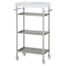 Ikea GRUNDTAL Trolley, stainless steel 48x24x77 cm