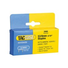 Tacwise 335 53 Light-Duty Staples 8mm (Type JT21 A) Pack 2000