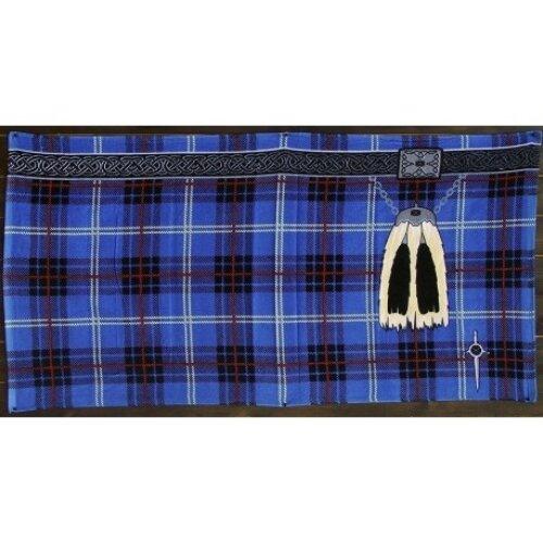 Instakilt Scottish Tartan Kilt Beach Towel (Adult, Blue)