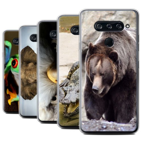 Wildlife Animals LG V40 ThinQ Phone Case Transparent Clear Ultra Soft Flexi Silicone Gel/TPU Bumper Cover for LG V40 ThinQ