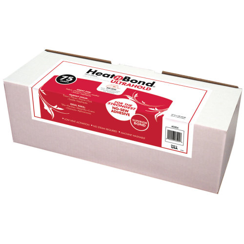 "Thermoweb HeatnBond Ultra Hold Iron-On Adhesive-White 17""X75yd FOB: MI"