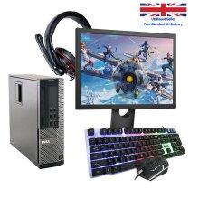 GAMING PC DELL HP COMPUTER BUNDLE WINDOWS 10 QUAD THREAD i3 8GB 500GB GT 710 - Refurbished