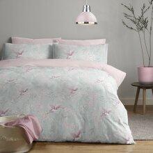 Oriental Crane Duvet/Quilt Cover With Pillow Cases