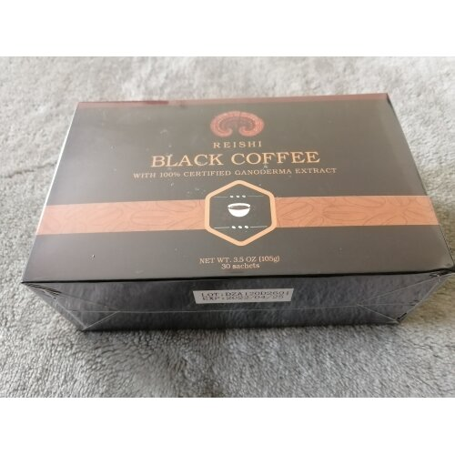 Reishi ganoderma black instant coffee