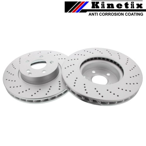 FOR MERCEDES C250 C280 C300 C350 W204 W205 FRONT DRILLED COATED BRAKE DISCS 322m
