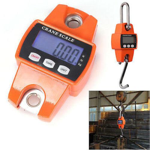 300kg/600lb Heavy Duty Digital Crane Scale Weighing Luggage with Hook