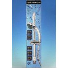 5 Function Shower Set With Hose And Sliding Bar