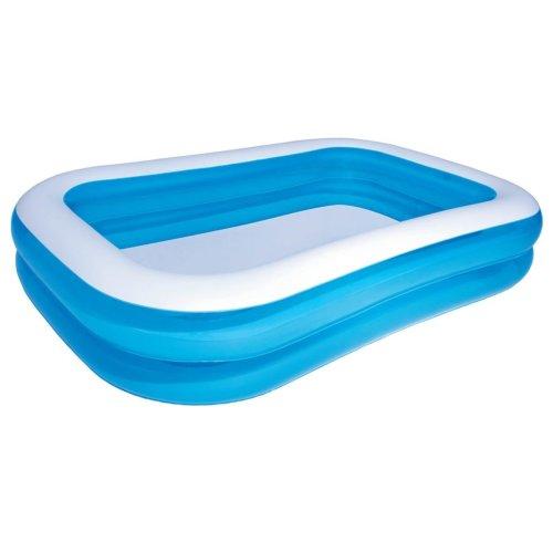 vidaXL Blue & White Inflatable Pool