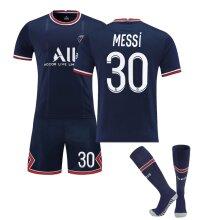 Messi #30 Team Home T-Shirt Soccer Jersey Kit for Kids Teens