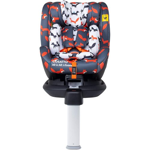 Cosatto All in All I-Rotate Car Seat â Group 0+123, 0-36Kg, 0-12 Years, Isofix, ERF, Multi-Fit - Charcoal Mister Fox