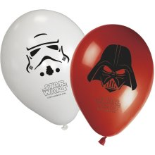 """Unique Party 11"""" Heroes and Villains Star Wars Balloons, Pack of 8"""