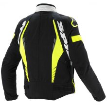 Spidi IT TEX Tech Warrior TEX JKT BLK WHT Fluo MED T185 394