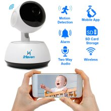 iHaven Baby Video Monitor Pet Cam Dog Wifi Camera for Smart Phone PC App with Infra Red Night View Motion Sensor 2 Way Audio