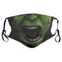 Superheroes The Hulk Face Masks for Adult Youth Reusable