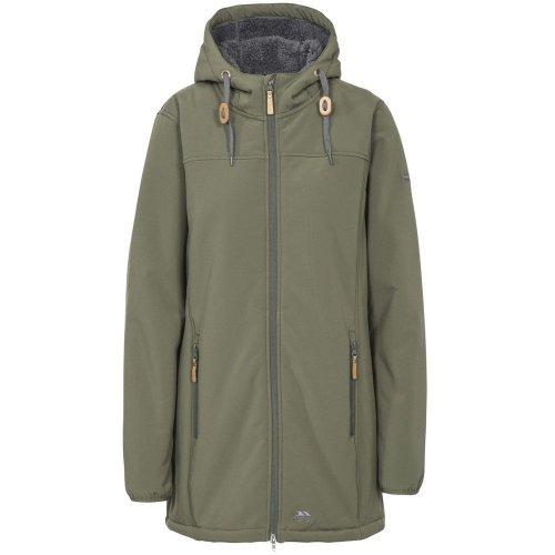 (XL, Moss) Trespass Womens/Ladies Kristen Longer Length Hooded Waterproof Jacket