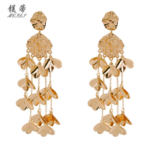 Fashion earrings female long section exaggerated flower earrings