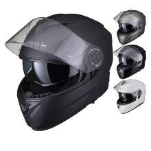 Black Optimus II Flip Front Internal Sun Visor Motorcycle Helmet