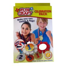 Fun Craft Celebration Pack Make your own Medals & Flags