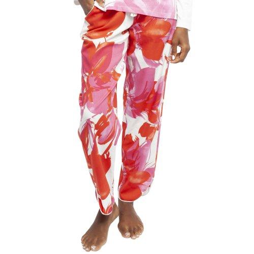 Cyberjammies 4358 Women's Amber Pink Floral Print Cotton Pyjama Pant