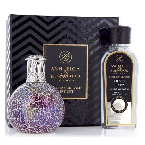 Ashleigh & Burwood Fragrance Oil Lamp Home Gift Set Diffuser Pearlesence & Fresh Linen