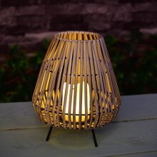 Stunning Soft Sea Teardrop Solar Table Lantern Add a Warm Ambient Glow to Your Garden Automatically Switches on at Dusk - Warm White