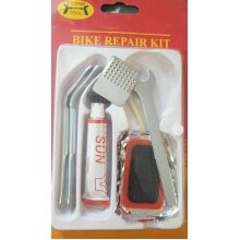 Bicycle Tyre Puncture Repair Kit 12 pcs Rubber Patches plus tools Glue UK Seller