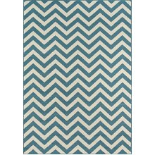 Momeni Rugs , Baja Collection Contemporary Indoor & Outdoor Area Rug, Easy to Clean, UV protected & Fade Resistant, 2'3 x 4'6, Blue