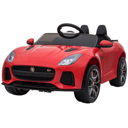 HOMCOM Kids Ride-On Car Jaguar F-type SVR Licensed 6V Rechargeable Battery Red