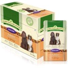 James Wellbeloved Senior Turkey Hypoallergenic Complete Wet Dog Food (10 Pouches)