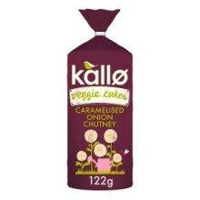 Kallo Foods Caramelised Onion Veggie Cakes 122g (Pack of 6)