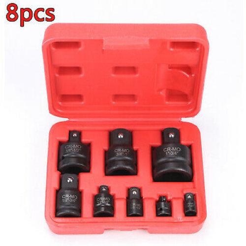 "8pcs Tools Socket Impact Adaptor Converter Set From1/4"" 3/8"" 1/2"" 3/4"""