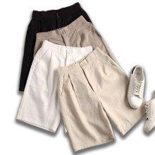 New Asian cotton women's shorts loose high waist casual