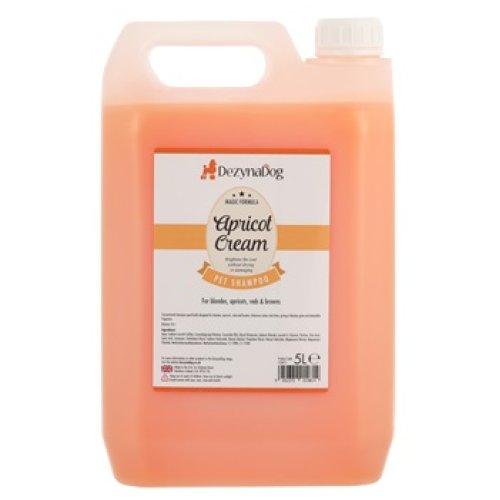 DezynaDog Magic Formula Apricot Cream Shampoo 5L - Enhanced Colour & Shine