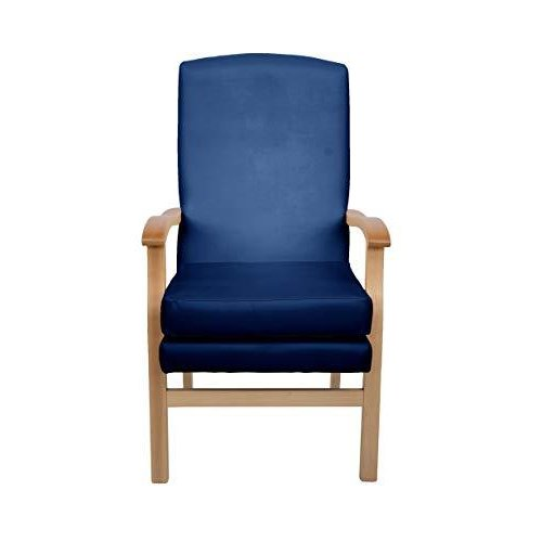 MAWCARE Deepdale Ortopaedic High Seat Chair - 21 x 20 Inches [Height x Width] in Manhattan Blue (lc48-Deepdale_m)