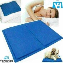 Cooling Gel Pillow Pad Comfort Sleeping Multi purpose Bed Mat Aid Body Pads