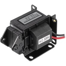 sourcing map AC220V 14.7N 15mm Energy Saving AC Tractive Magnet Solenoid Electromagnet,SA-2502
