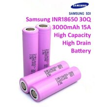 GENUINE Samsung 18650 Lithium 30Q 3000mAh Battery