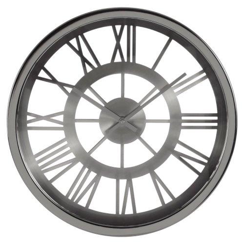 Baillie Skeleton Wall Clock, Chrome