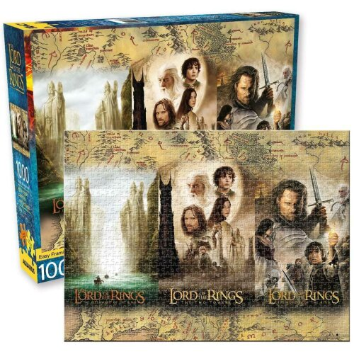 Lord of the Rings Posters Triptych 1000 piece jigsaw puzzle 510mm x 710mm (nm)