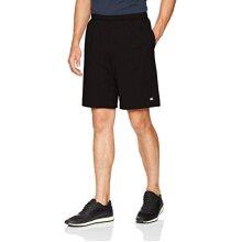 champion Mens Jersey Short With Pockets, Black, Large