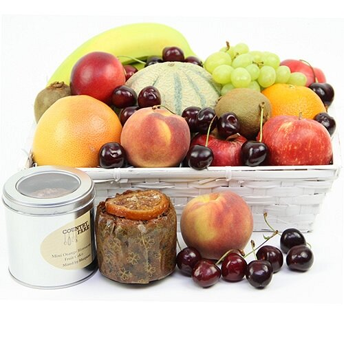 Fruit Fare Basket - Fruit Gift Baskets and Gift Hampers with Personal Message Attached