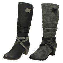 Ladies Rieker Warm Lined Long Boots 96054