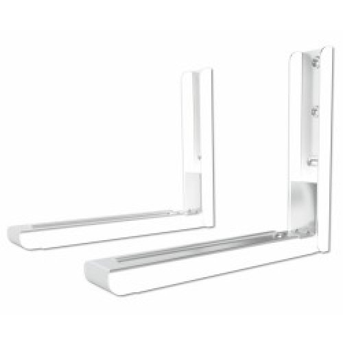 King Premium Universal Microwave Mount Bracket in White Steel with Extendable Arms, Suitable for All Microwaves, Max. Microwave Weight 45kg