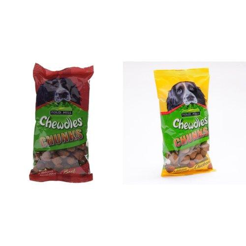 (6 x 180g, Chicken) Foldhill Chewdles Chunks Dog Treats (6 Packs)
