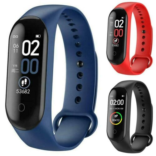 Smart Watch M4 Heart Rate Blood Pressure Fitness FIT#BIT Sport Tracker Wristband