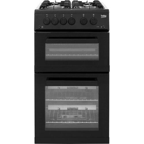 Beko KDG582K 50cm Gas Cooker with Full Width Gas Grill - Black