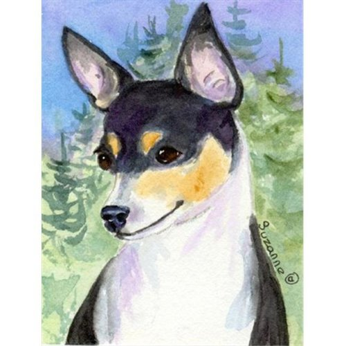 11 x 15 In. Rat Terrier Flag, Garden Size
